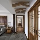 中式现代—自在居——走廊图片