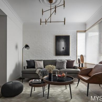 武汉木羽设计—灰色轨迹——客厅设计图