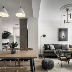武汉木羽设计—灰色轨迹——客餐厅设计图