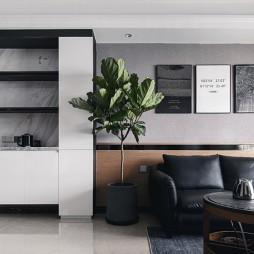 现代风格丨黑白灰方寸之间皆是生活——客厅图片
