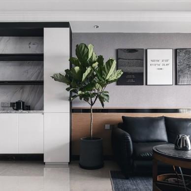 現代風格丨黑白灰方寸之間皆是生活——客廳圖片