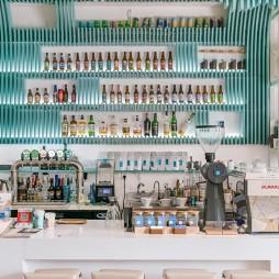 深蓝坊咖啡馆 · 水形物语——吧台设计图