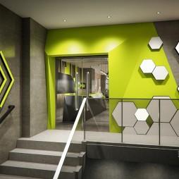 【吉米设计】健身房——门口设计图