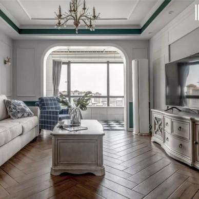 103平米美式田园——客厅图片