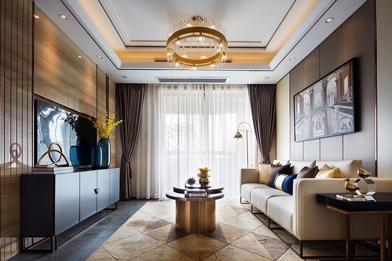 现代简约演义生活之美新欧鹏教育城案例客厅现代简约客厅设计图片赏析
