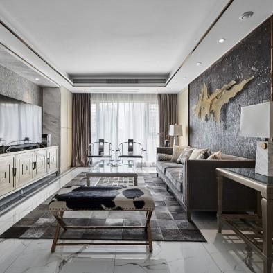 简约中透着轻奢质感,融合中式元素的家!
