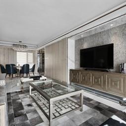 简约中透着轻奢质感,融合中式元素的家——客餐厅图片