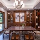 180平中式居所,古朴大气淡雅自然——餐厅图片