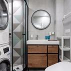 70平米北欧极简卧室图片卫生间图片
