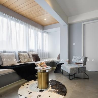 灰度—90平米现代简约——客厅图片