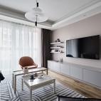 几何+莫兰迪——客厅图片
