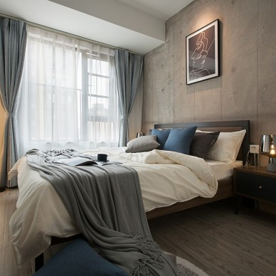 现代简约民宿——卧室图片