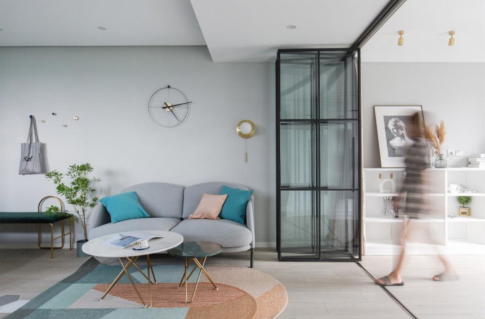 全屋联动,一居两居随心变客厅北欧极简客厅设计图片赏析