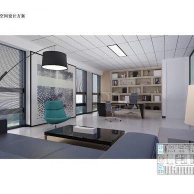 简约办公场所——财富广场_3830256