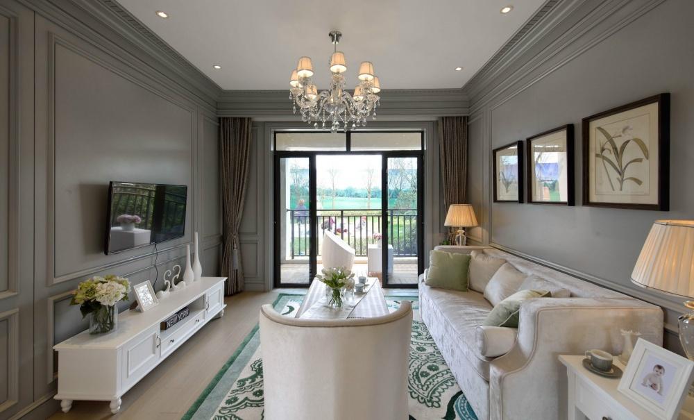吉安市房屋装修设计,二手房,套房,纯设计客厅美式经典客厅设计图片赏析