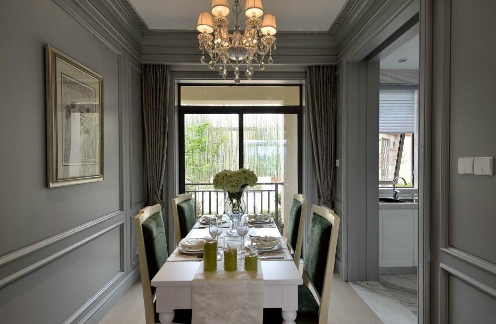 吉安市房屋装修设计,二手房,套房,纯设计厨房窗帘美式经典餐厅设计图片赏析
