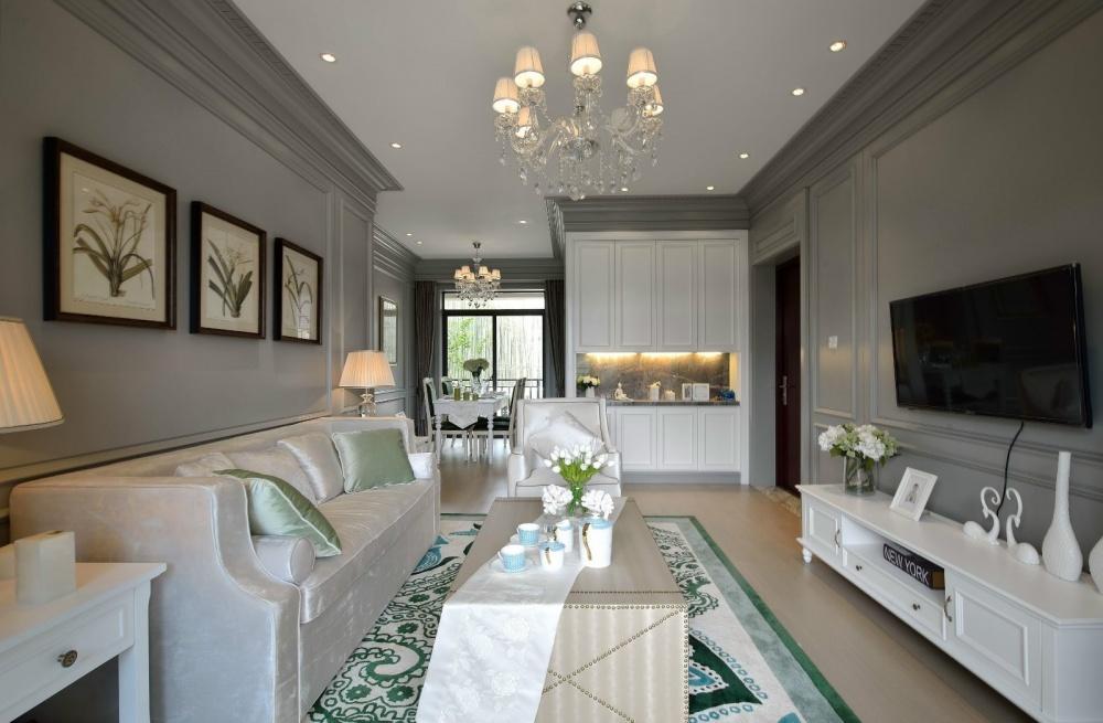 吉安市房屋装修设计,二手房,套房,纯设计客厅电视柜美式经典客厅设计图片赏析