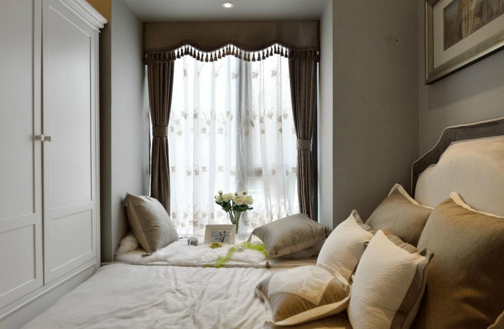 吉安市房屋装修设计,二手房,套房,纯设计卧室窗帘1图美式经典卧室设计图片赏析