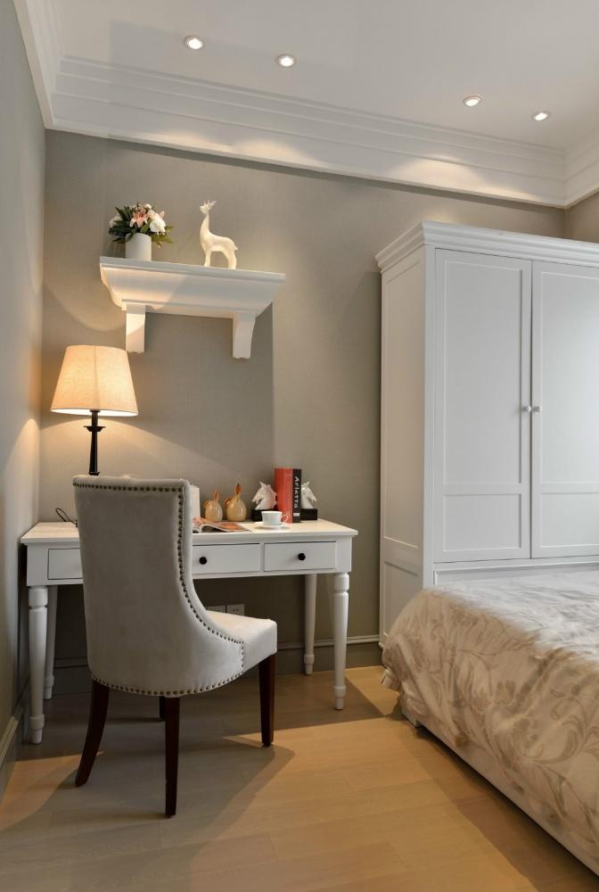 吉安市房屋装修设计,二手房,套房,纯设计卧室木地板5图美式经典卧室设计图片赏析