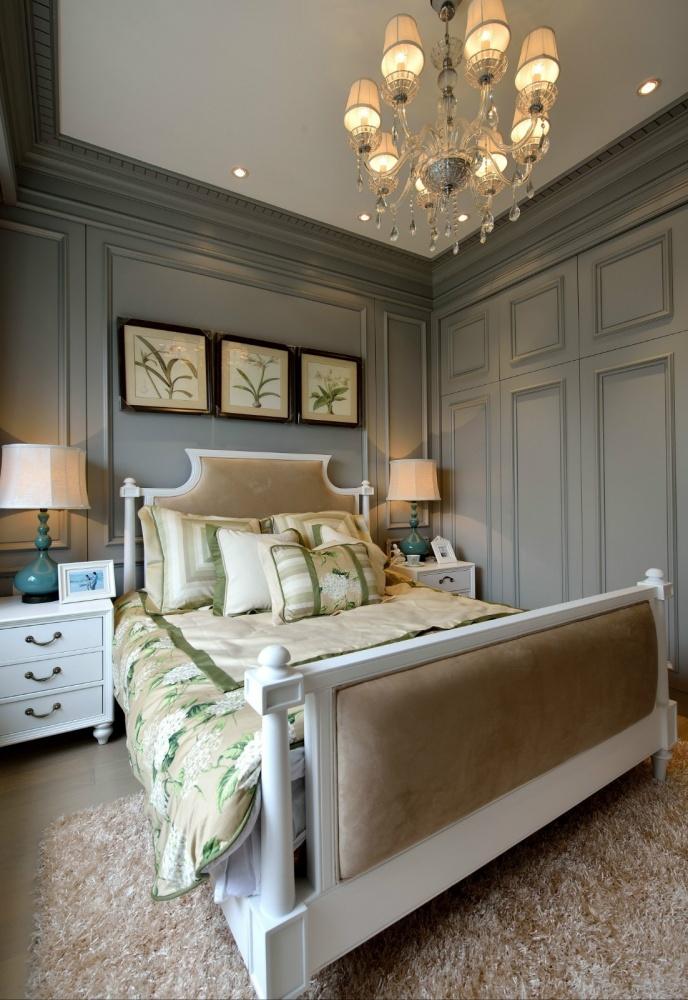 吉安市房屋装修设计,二手房,套房,纯设计卧室窗帘4图美式经典卧室设计图片赏析