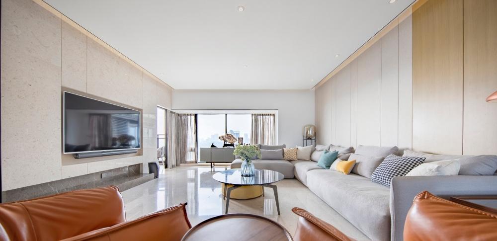 久度设计 深圳香山美墅客厅现代简约客厅设计图片赏析