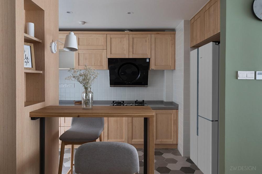 改造个过道,浴缸冰箱统统拿下功能区2图日式功能区设计图片赏析