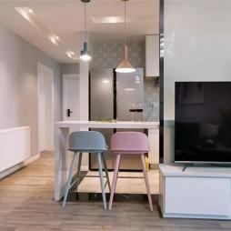 100平米三居住宅吧台设计图
