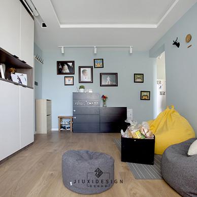 无沙发客厅+投影:为孩子打造一个游乐园_3849334