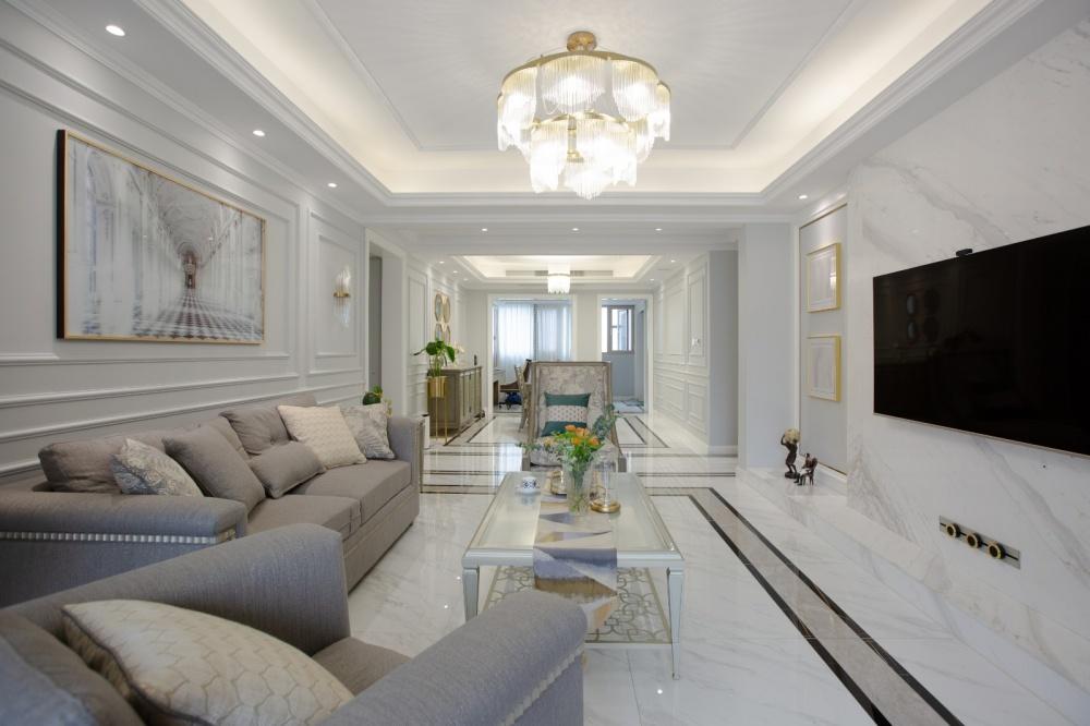 禾易空间设计《拂光岛屿》客厅美式经典客厅设计图片赏析