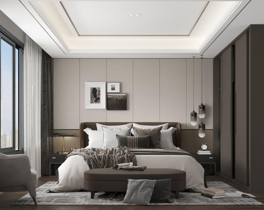康湖公寓卧室现代简约卧室设计图片赏析
