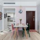 80平粉色时空——餐厅图片