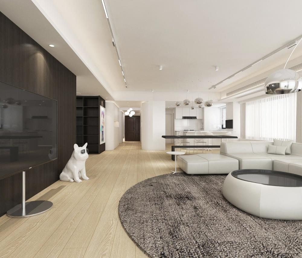 用白色玩出时尚感住宅空间客厅现代简约客厅设计图片赏析