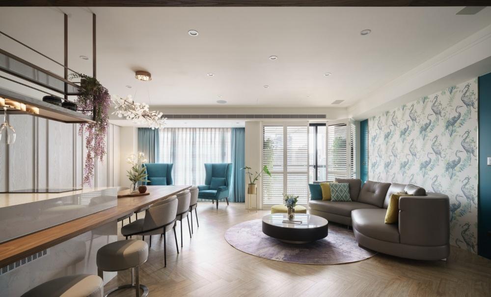 花羨居客厅潮流混搭客厅设计图片赏析
