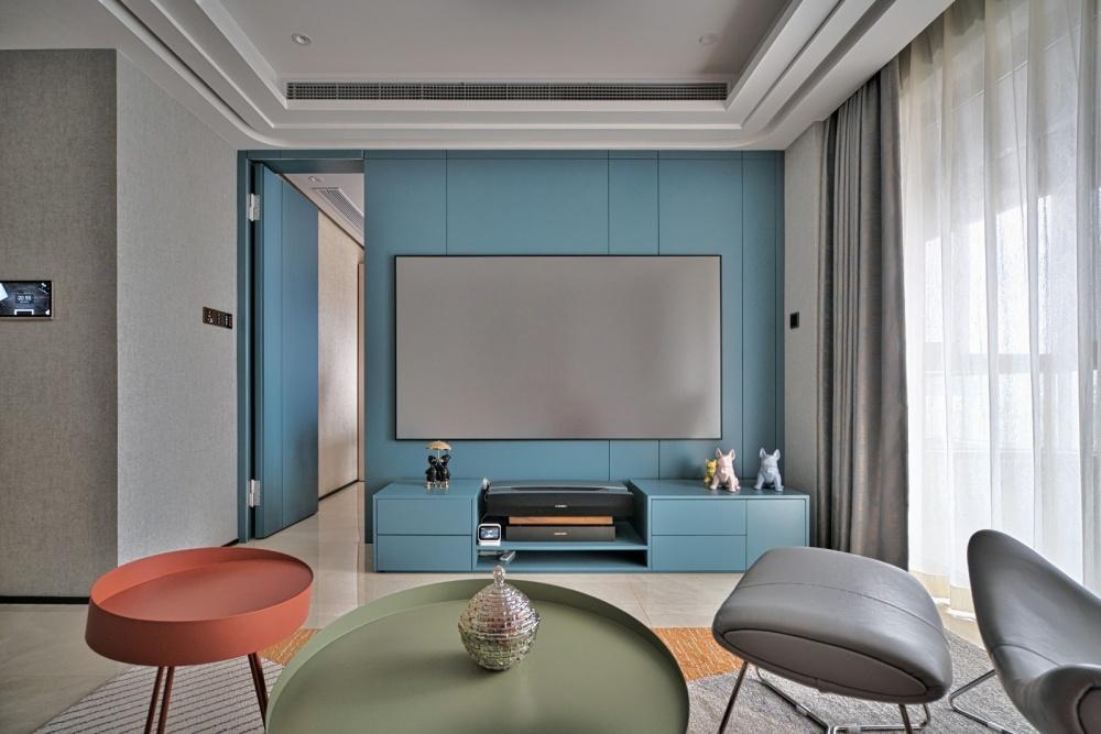 灰色+橙色=随心不随意&时髦显魅力客厅1图现代简约客厅设计图片赏析
