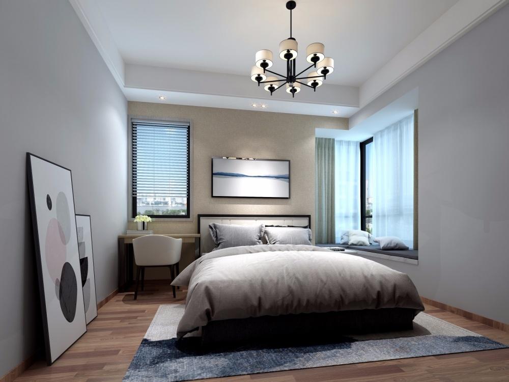 西江河畔三套卧室现代简约卧室设计图片赏析
