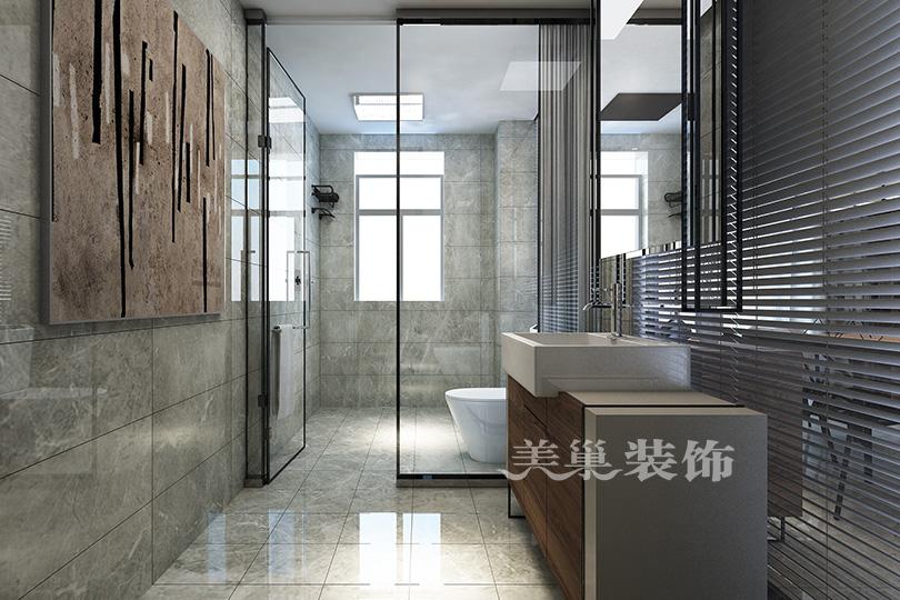 郑州康桥悦城125平三室装修后现代风格卫生间现代简约卫生间设计图片赏析