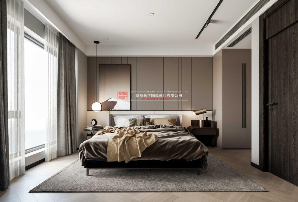 酷炫黑色空间卧室1图现代简约卧室设计图片赏析