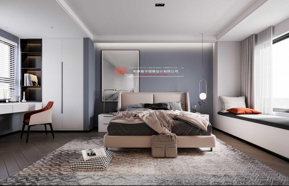 酷炫黑色空间卧室2图现代简约卧室设计图片赏析