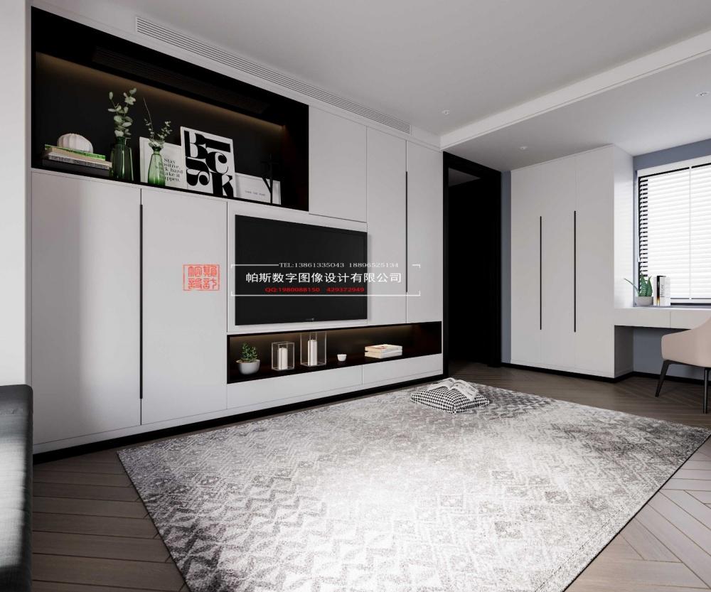 酷炫黑色空间卧室3图现代简约卧室设计图片赏析