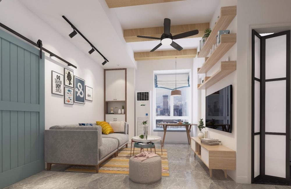 现代住宅改造项目客厅现代简约客厅设计图片赏析