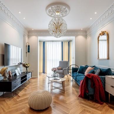 70平米欧式豪华——客厅图片