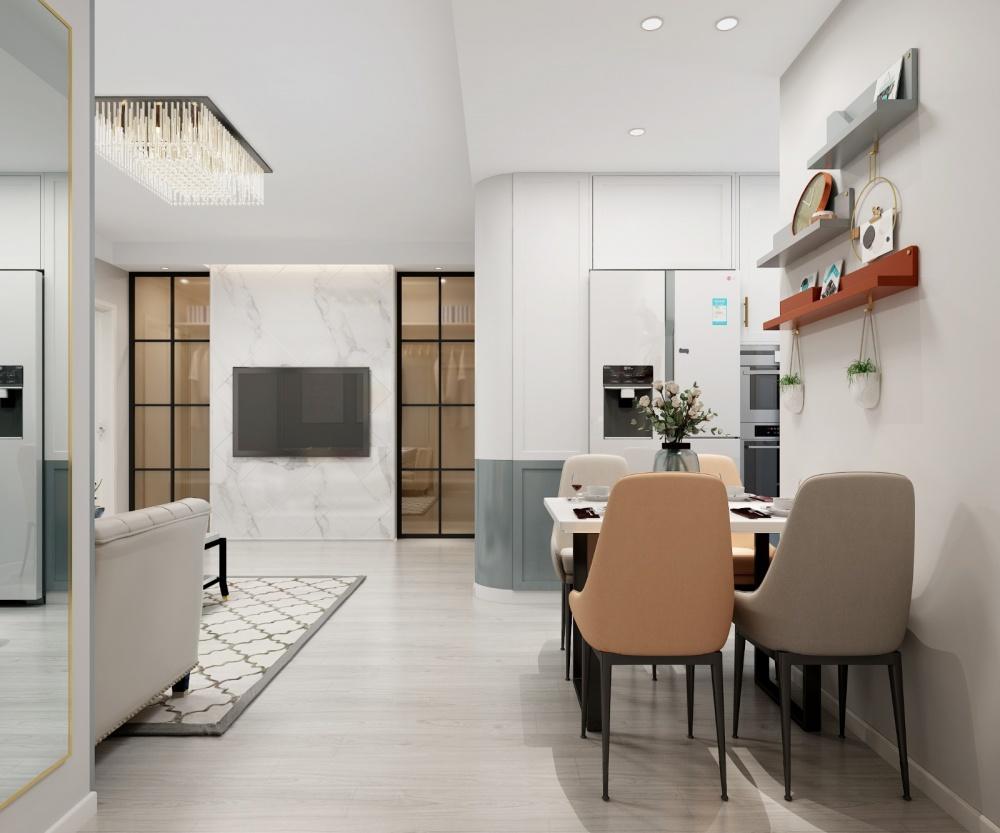 跃然厨房现代简约餐厅设计图片赏析