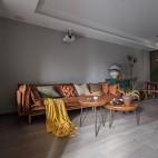 100平米潮流混搭客餐廳設計圖