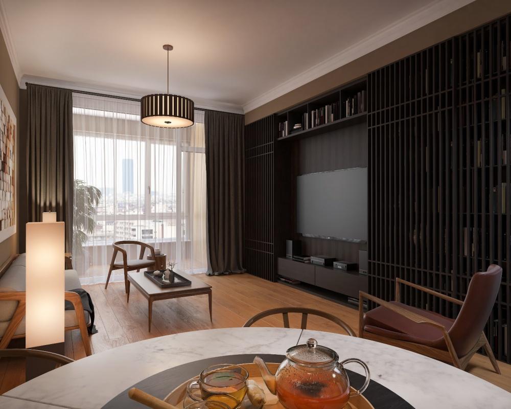 王先生住宅设计客厅中式现代客厅设计图片赏析