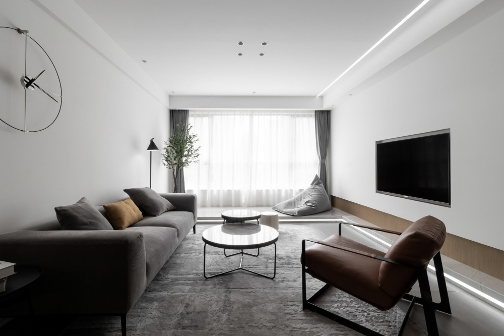 原木简约德景园客厅2图现代简约客厅设计图片赏析