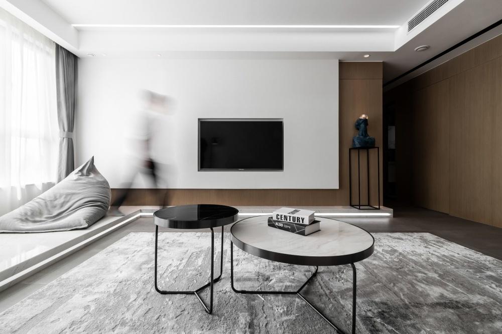 原木简约德景园客厅现代简约客厅设计图片赏析