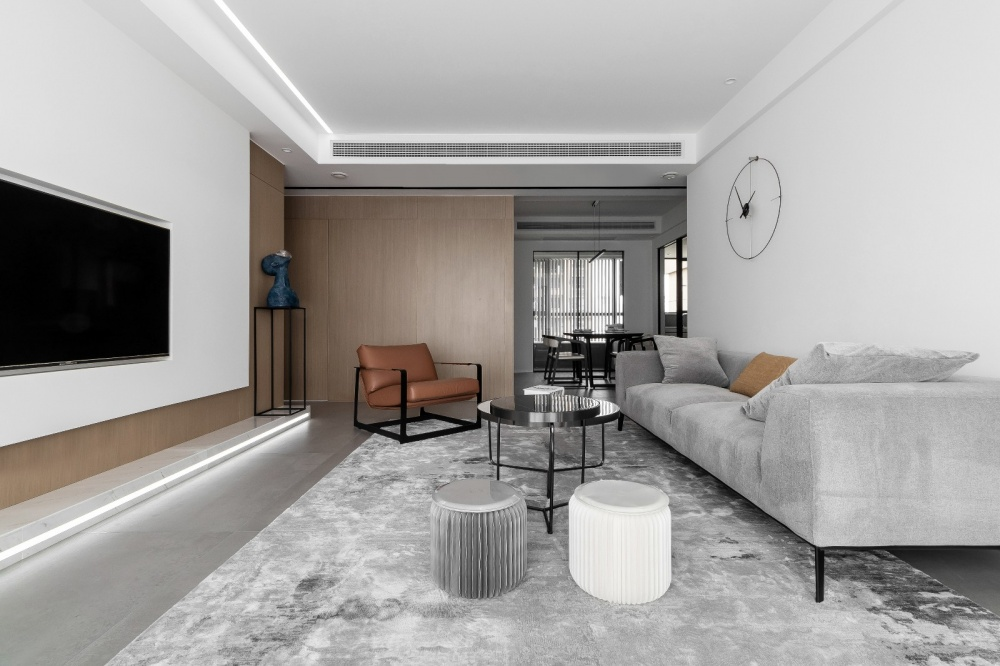 原木简约德景园客厅1图现代简约客厅设计图片赏析