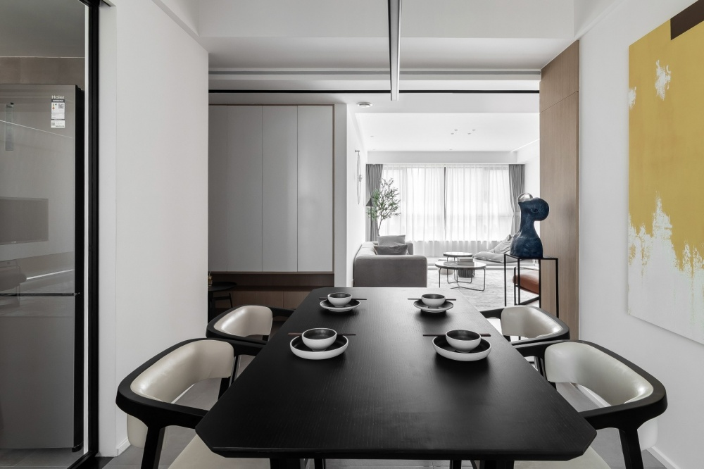 原木简约德景园厨房2图现代简约餐厅设计图片赏析