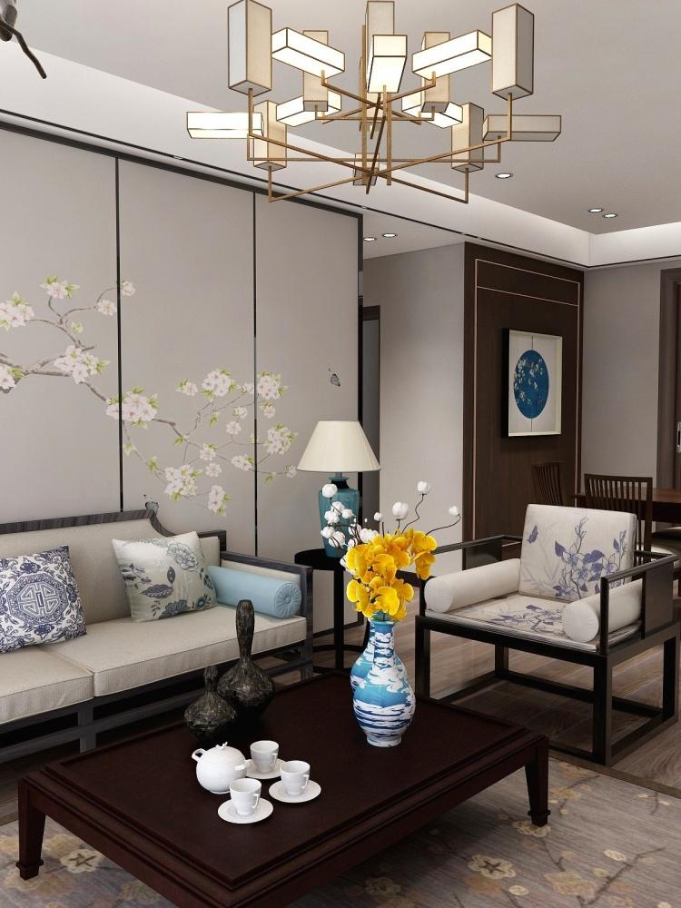 新中式风格┃东方韵,沉淀生活美客厅中式现代客厅设计图片赏析