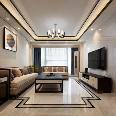 静.清—中式现代——客厅图片